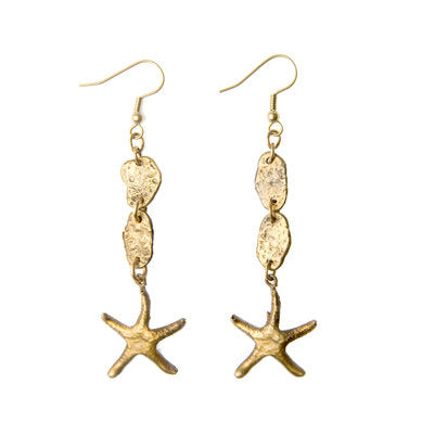 Nugget & Starfish Earrings