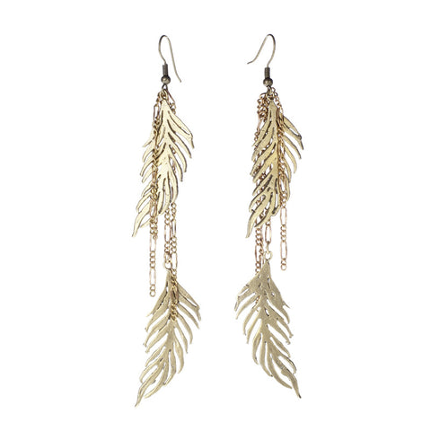 Double Feather Earrings