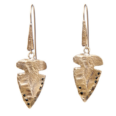 Arrowhead with Crystal Earrings