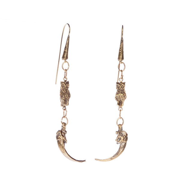 Owl & Claw Earrings