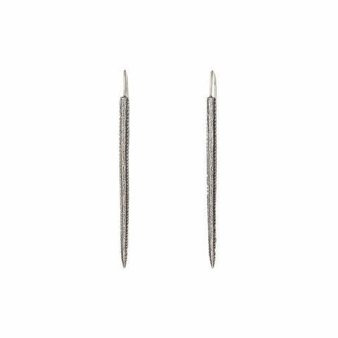 Silver Stingray Barb Spear Earrings