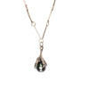 Image of Silver Talon Holding Black Tahitian Pearl Necklace