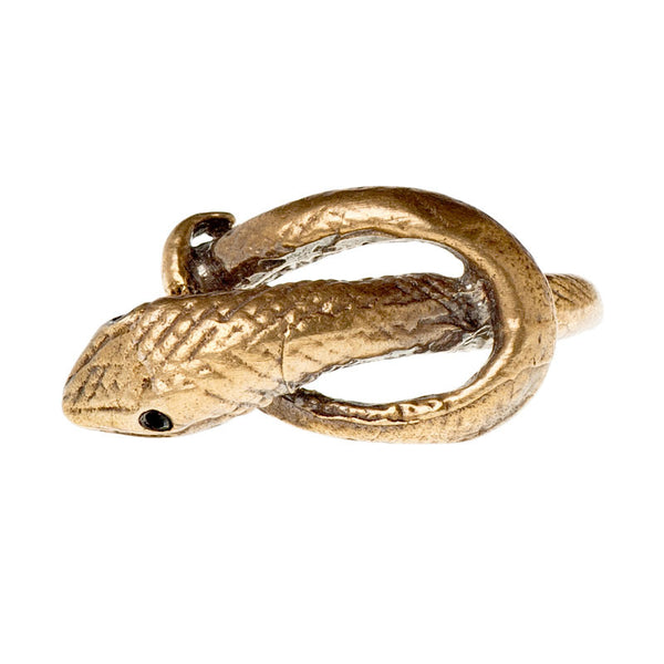 Snake with Wrapped Tail Band