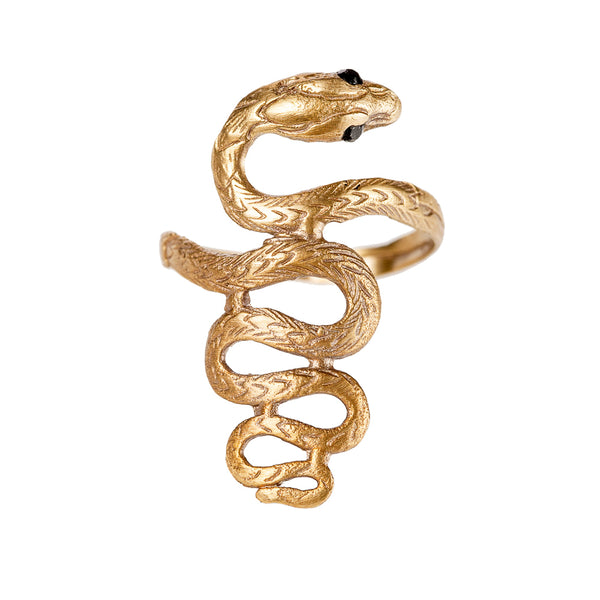 Textured Serpent Ring