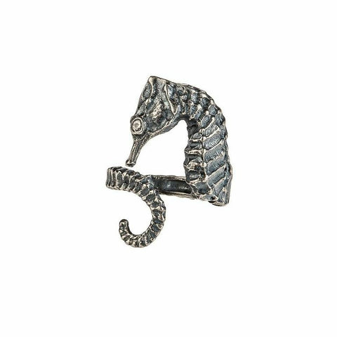 Silver Seahorse Ring