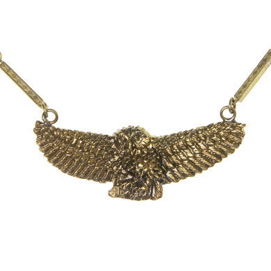 Swooping Owl Necklace