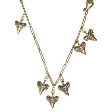 Six Shark Teeth Necklace