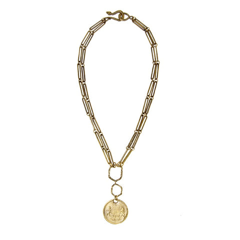 Lucky Hebrew Coin Necklace