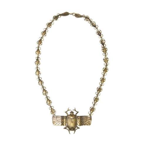 Deco Scarab Chain Necklace