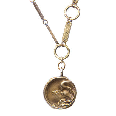 Art Nouveau  Coin Necklace