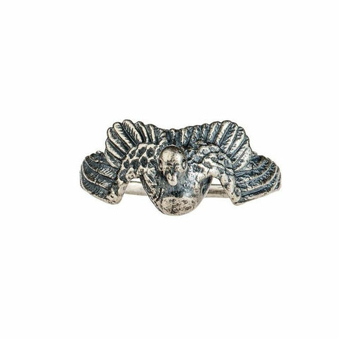 Silver Peace Dove Ring