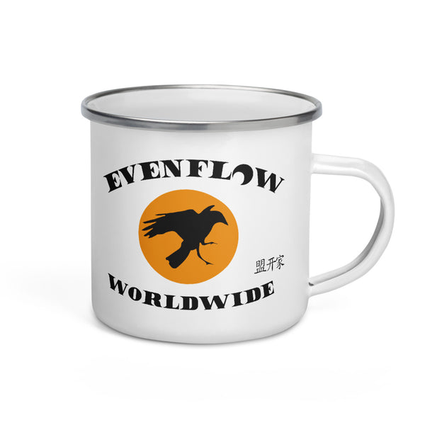 Evenflow Worldwide Enamel Mug White/Orange