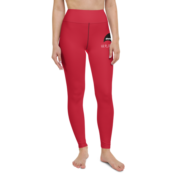 Evenflow Yoga Leggings Red