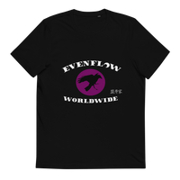 Evenflow Full Moon Unisex Organic Cotton T-Shirt Black/Purple