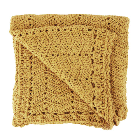Crocheted Baby Blanket - Turmeric