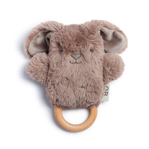 Wooden Teether - Taupe Bunny