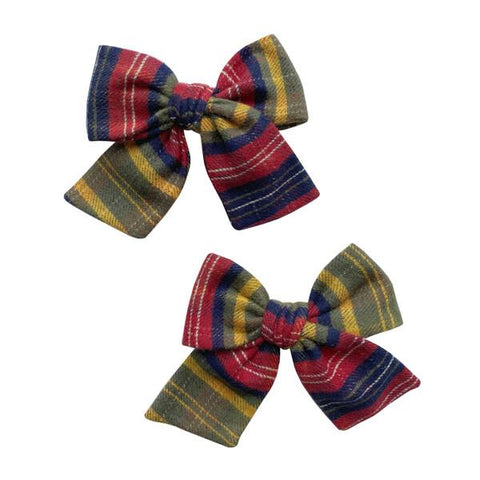 2PK Big Cotton Clips - Hunter Flannel