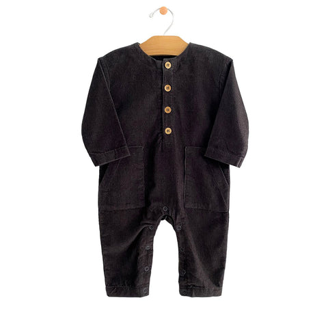 Cord Pocket Romper - Iron