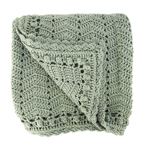 Crocheted Baby Blanket - Sage