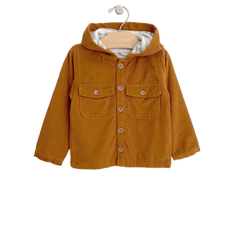 Hooded Cord Jacket - Amber