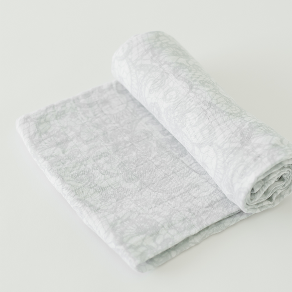 Cotton Muslin Swaddle - Antique Lace