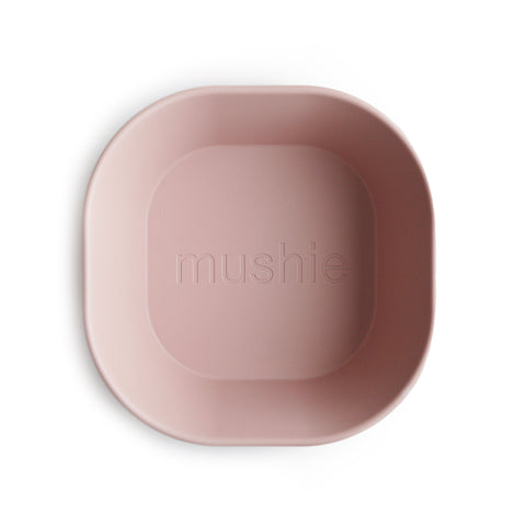 Square Dinnerware Bowl Set of 2 - Blush