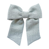 Big Solo Bow - Grey Tweed