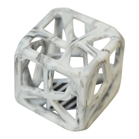 Chew Cube - Marble Grey