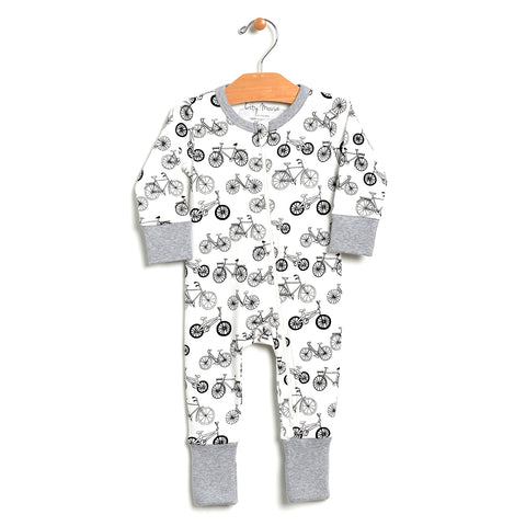 2-Way Zip Romper - Bikes