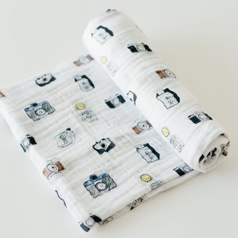 Cotton Muslin Swaddle - Camera