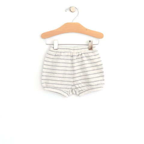 Bubble Short - Melange Stripe