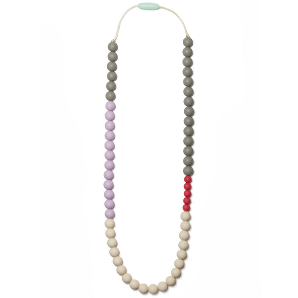 Olivia Silicone Teething Necklace - Lavender