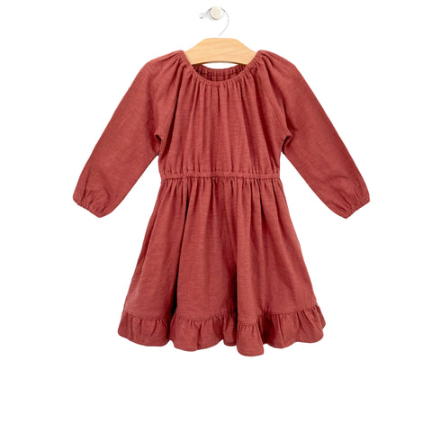 Ruffle Dress - Paprika