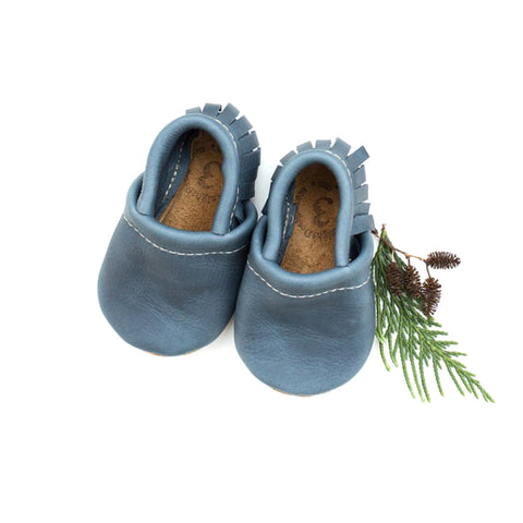 Fringe Moccs - Denim