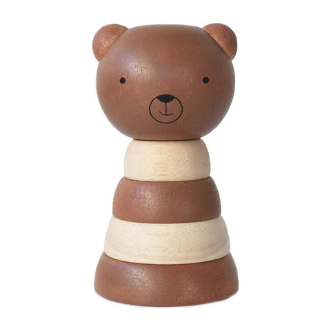 Wooden Ring Stacker - Bear