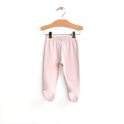 Footed Pants - Mauve Blush