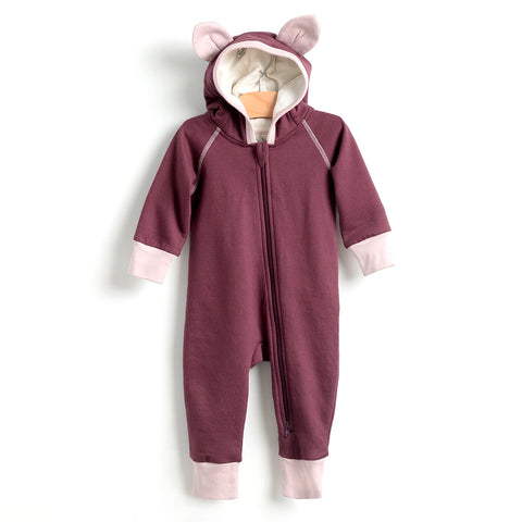 Cat hooded Romper - Fig
