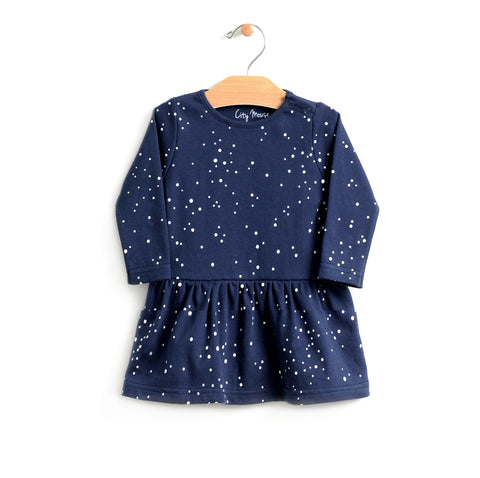 Night Sky Skirted Dress - Midnight