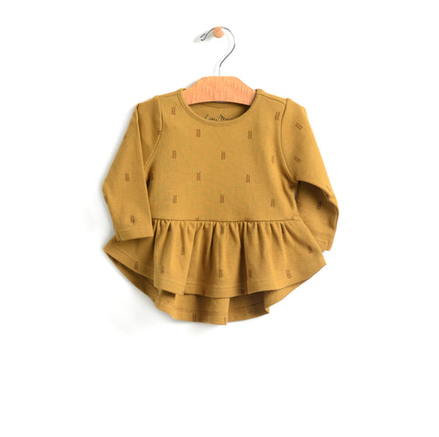Wheat Peplum - Bronze