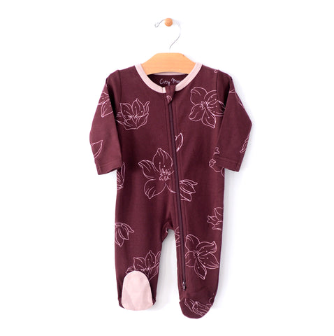 2 - Way Zip Romper - Hellebore