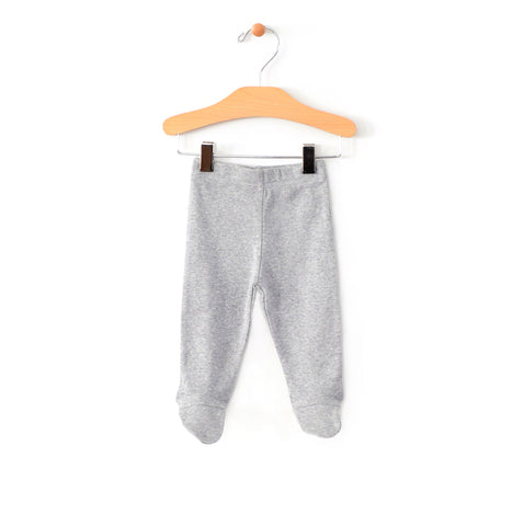 Footed Pants - Grey Melange