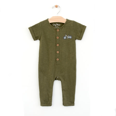 Slub Bike Long Romper
