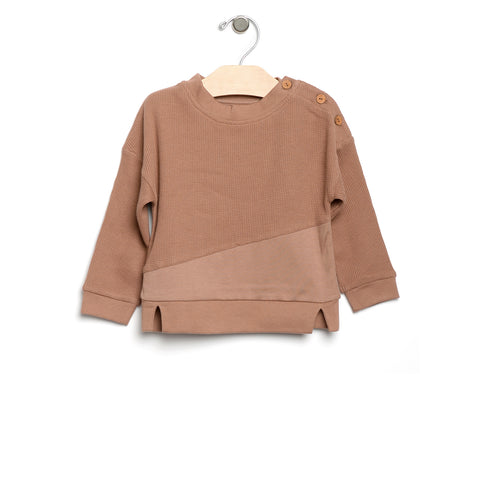 Waffle Pullover - Caramel