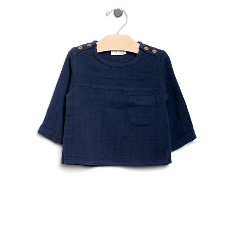 Muslin Mr Top - Midnight Blue