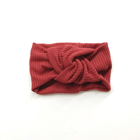 Twist Knot Headband - Rust
