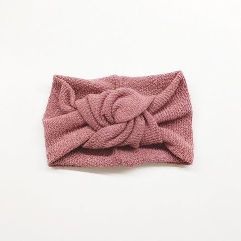 Twist Knot Headband - Mauve