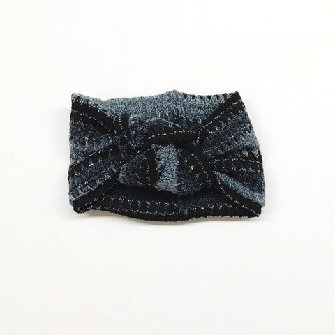 Twist Knot Headband - Ombre Metallic Blue