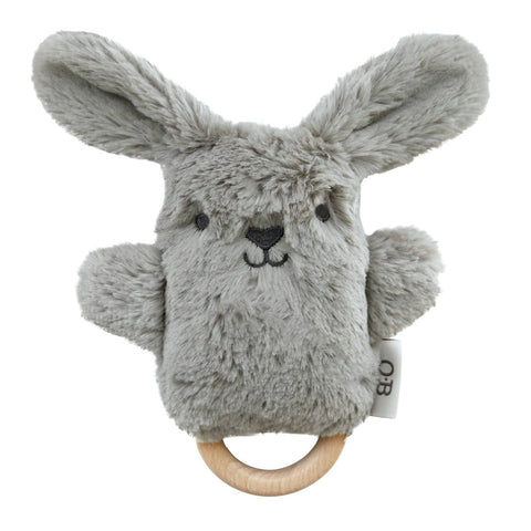 Wooden Teether - Pewter Gray