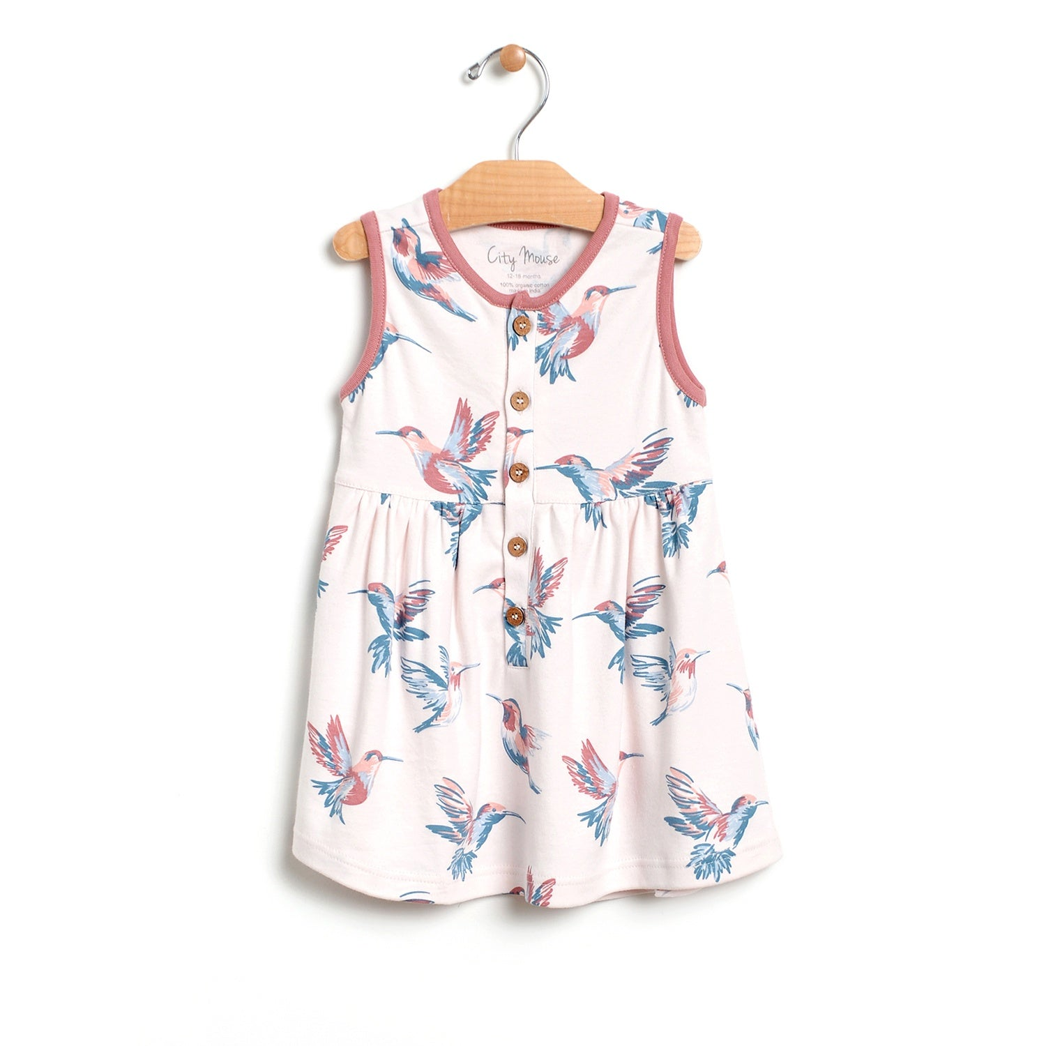bbaeb2323a9 Hummingbirds Button Up Tank Dress – City Mouse Studio