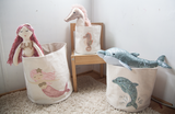 Sequin Seahorse Small Canvas Storage Bin